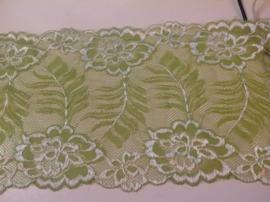 Groen met wit. 15 x 90 cm