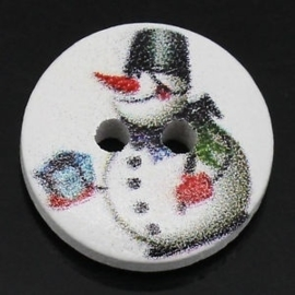 Sneeuwpop met emmer