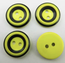 Geel met zwart. 15 mm