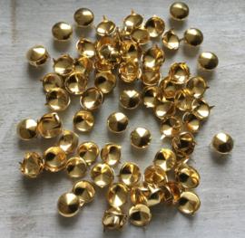 Studs goud rond. 12 mm. 30 voor