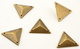 Metal look driehoek.  25 voor