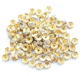 Goud / Wit. 8 mm. 10 voor