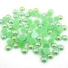 Halve parels Groen   3 mm.  100 voor