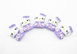 Hello Kitty paars 4 voor € 1,00