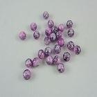 Glaskraal roze paars 8 mm 15 voor € 1,25