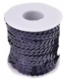 Pailettenband  Zwart 6 mm per meter € 0,40