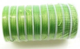 Zijdedraad  1.8 mm. Groen.  Per rol