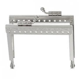 Zilverkleurig frame. 7.5 x 7.5 cm