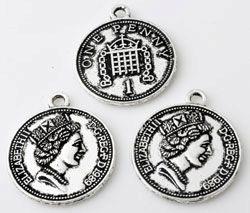 Engelse munt 1 Penny met ELISABETH erop