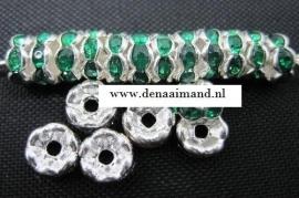 Zilver / Groen.   6mm 20 voor