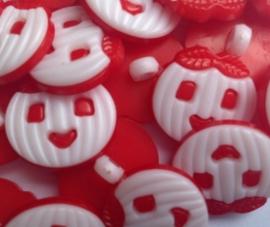 Rood pompoen gezichtje.    16 mm