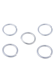 Aluminium ring  21 mm. 5 voor