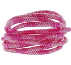 Roze wit.  25 cm