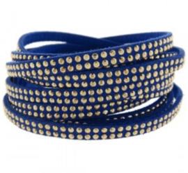 Blauw / gouden studs