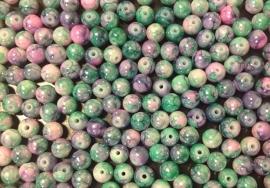 Groen Roze. 6 mm. 40 voor