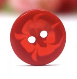 Rood met bloem 14 mm