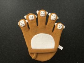 Vingers met apenkoppen