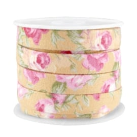 Trendy plat koord Honingbruin-Roze