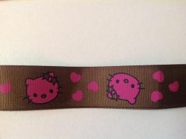 Hello Kitty bruin per meter € 1,75