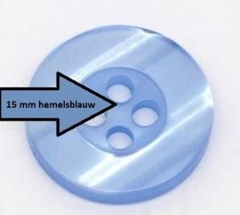 Blauw 4 gaten 15 mm