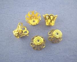 Goudkleurige kap 6 x 5 mm  20 stuks