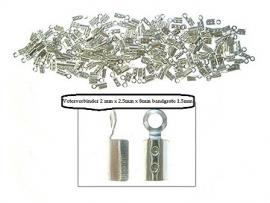 Zilveren veter klemmetjes 2.5 x 8 mm 6 voor