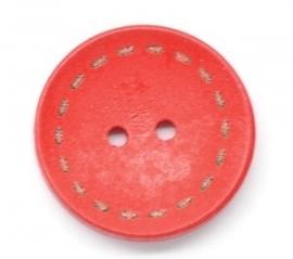 Rood rond 25 mm per stuk € 0,11