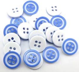 Lichtblauw wit. 12.5 mm