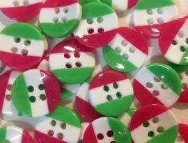 Groen roze wit streepje. 5 voor € 0,50