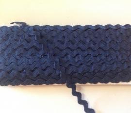 Zigzagband  BLAUW  2 meter € 0,95