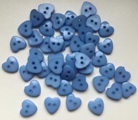 Blauw hartje 12.5 mm