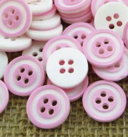 Roze wit. 12.5 mm