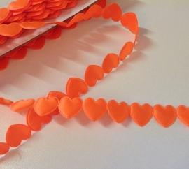 Hartjesband Oranje per meter