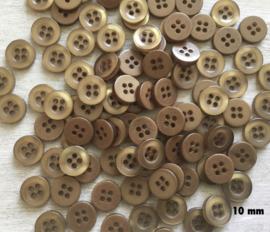 4.  Bruin knoopje 10 mm