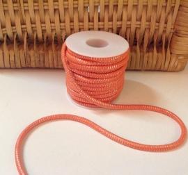 Elastisch koord  Oranje  4 mm /  50 cm voor