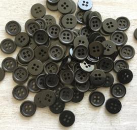 Zwart knoopje 10 mm