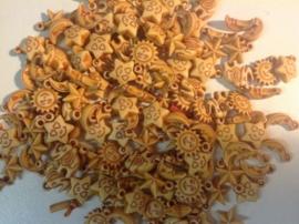 Bruin beige hanger kraal 11 mm  10 voor € 0,60