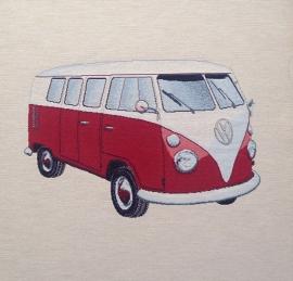 VW bus. Rood