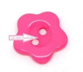 Roze bloemetje 14 mm