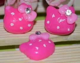 Hello Kitty Roze met steentje 4 voor € 1,25