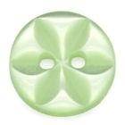 groen met bloem 11 mm per stuk € 0,08
