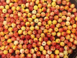 Geel Rood.  6 mm.  40 voor