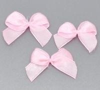 Strikjes Roze 2.5 x 2 cm. 10 voor € 0,30