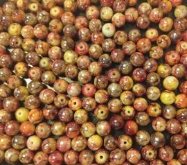 Garnet Rood Geel.  6 mm.  40 voor