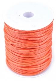 Oranje met glans.  per meter
