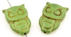 Natuursteen uil groen