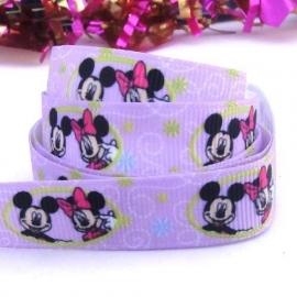 Mickey en Minie paars
