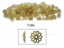Goudkleurige bloemenkap  30 voor € 1,50