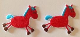 Paard ROOD 38 x 45 mm per stuk € 0,60