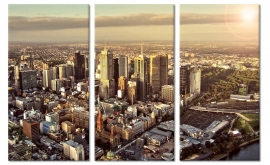 Schilderij Melbourne Skyline